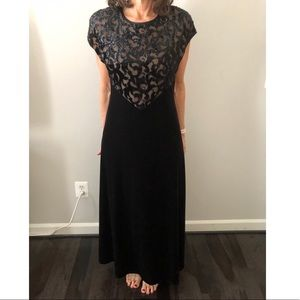 Black Cartise formal velvet gown